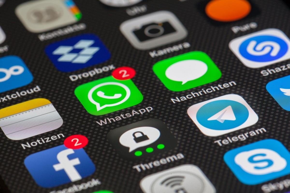 Icons diverser Social Media Kanäle